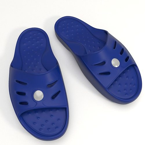 shower slippers 3d model obj fbx blend 1