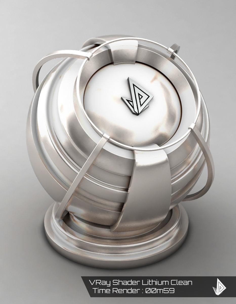 VRAY SHADER---METAL---Lithium