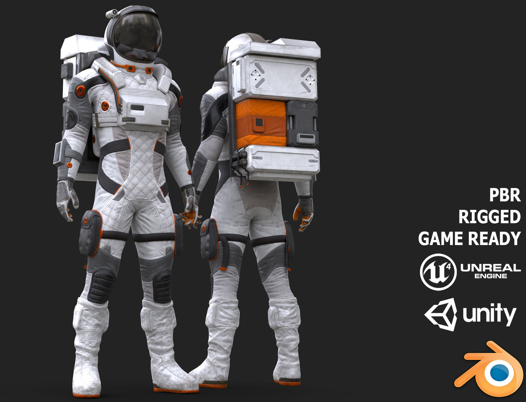 MX02 Male Space Suit LITE VERSION