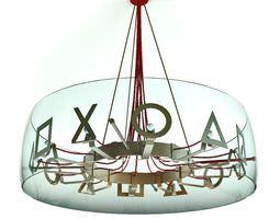 3D Hanging Glass Lamp