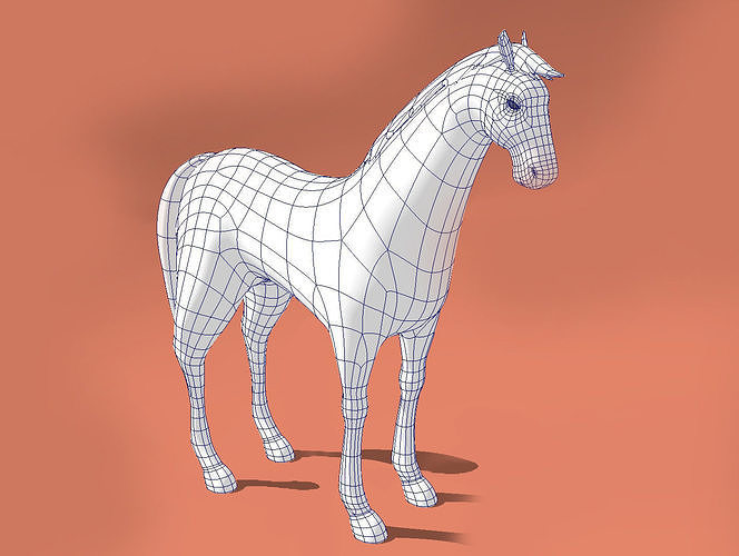 Horse low-poly model