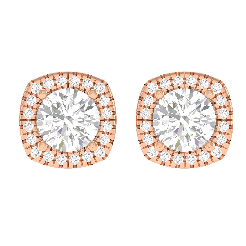 Women Square Earrings 3dm stl render detail