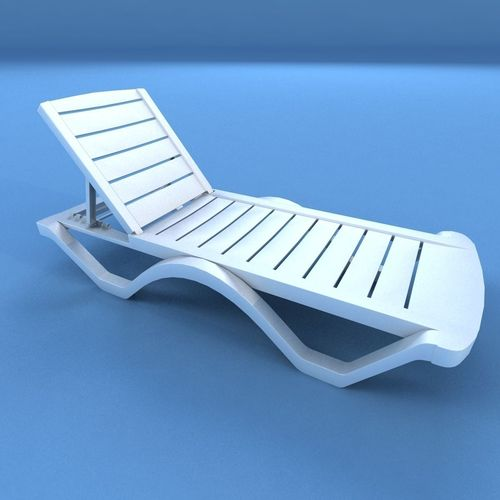 sunbed plastic 3d model low-poly max obj mtl 3ds fbx 1