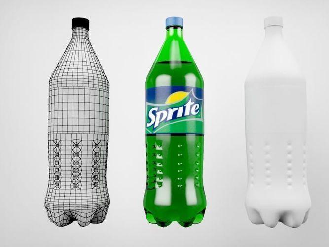 sprite bottle 3d model max obj 3ds 1