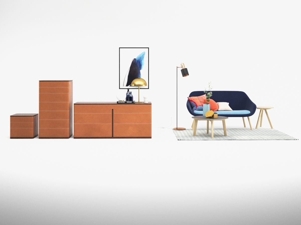 3D model Sofa set contemporary | CGTrader
