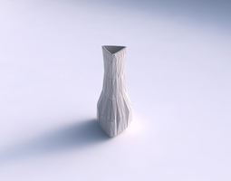 3d printable model vase puffy triangle with random triangle plates