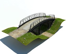 3D Ornate Black Cast Iron Bridge