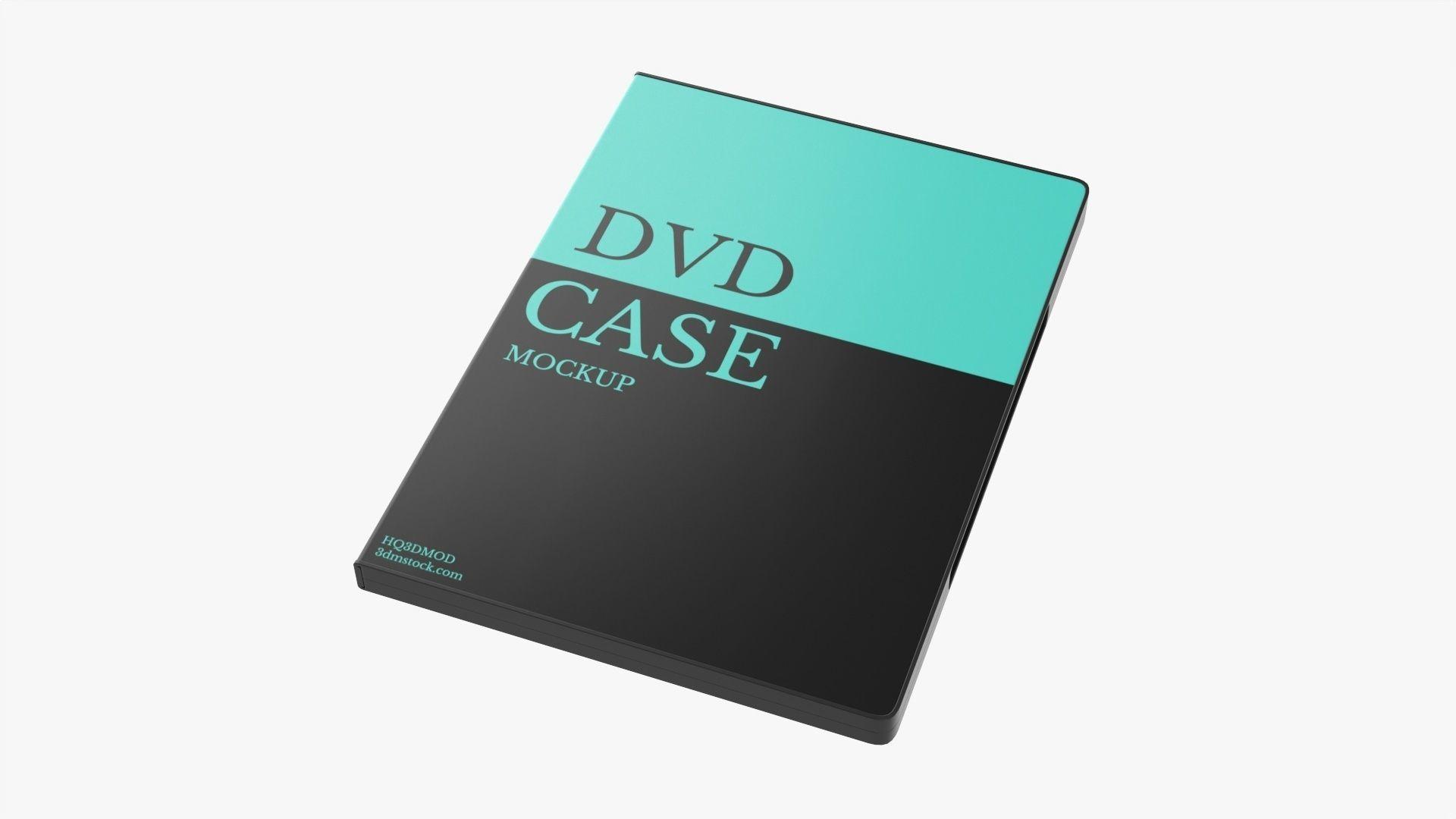 Closed DVD case mockup