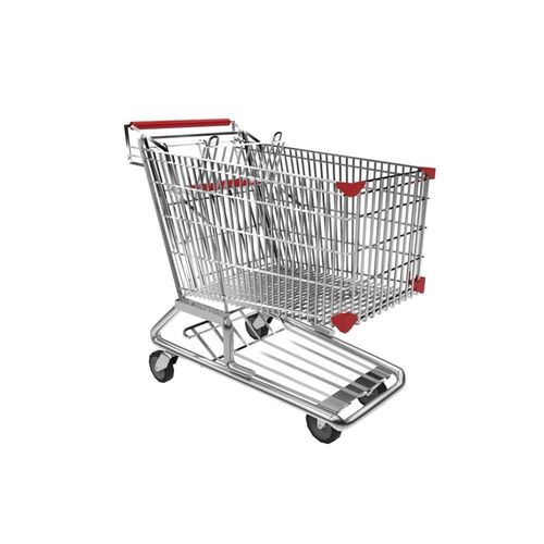 shopping trolley 3d model obj mtl fbx ma mb 1
