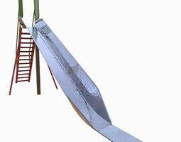 game-ready 3d model park slide