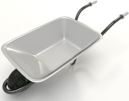 wheelbarrow 3d model obj fbx dxf blend