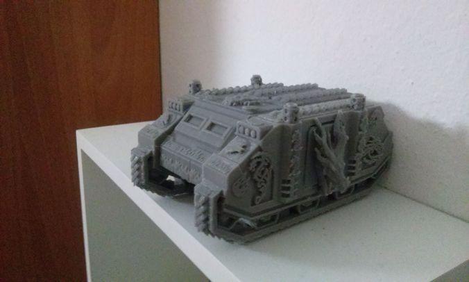 space dragons custom tank 3d print model 3d model obj 1