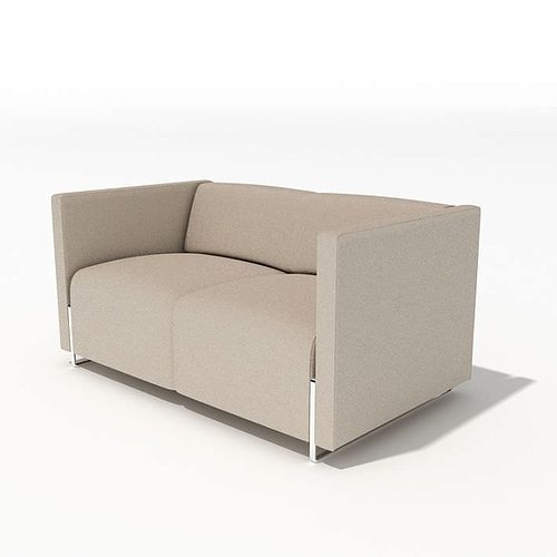 Modern Microfiber Sofa 3D Model