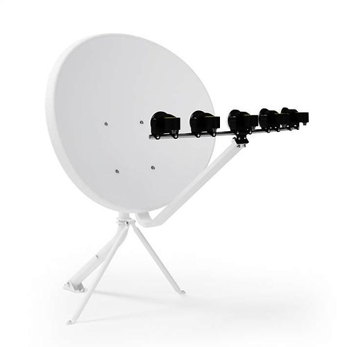 home satelite antenna 3d model obj mtl 1