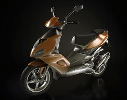 brown motorcycle 3d