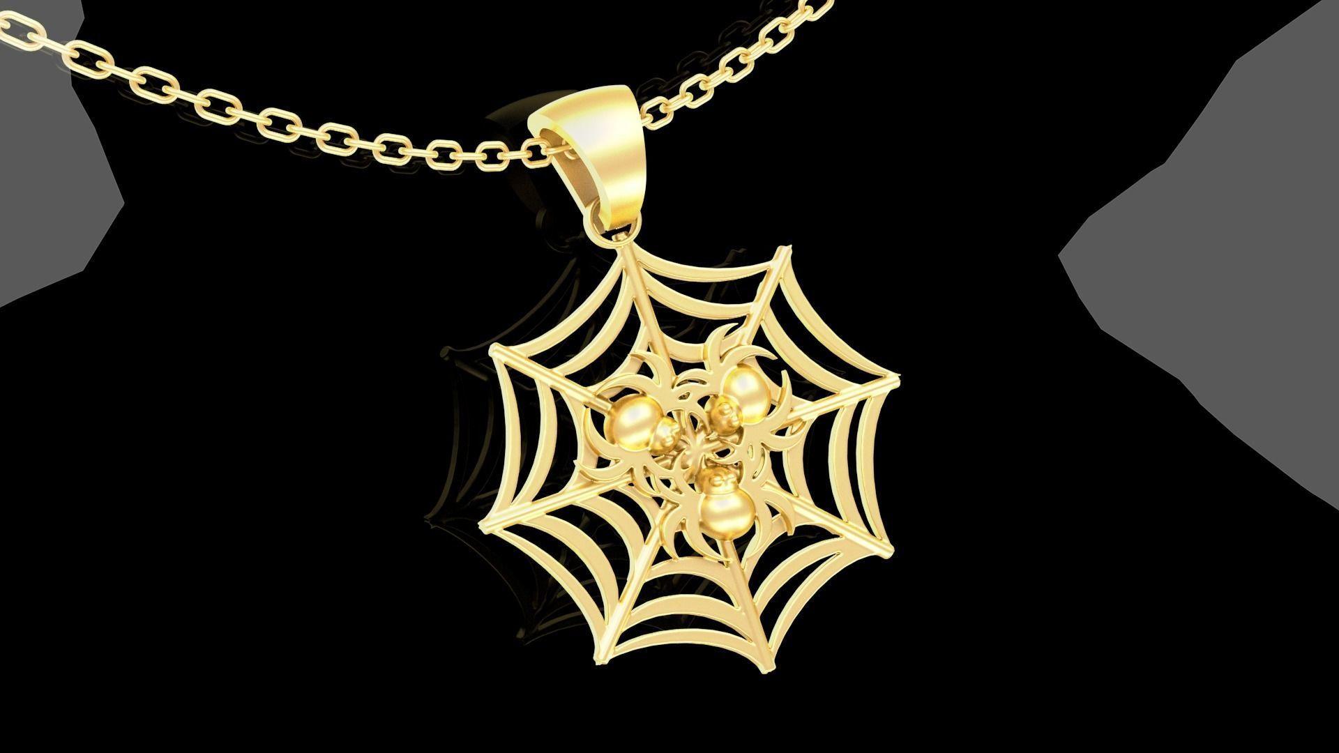 Spider Pendant jewelry Gold