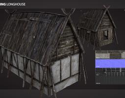 3D asset Viking Longhouse
