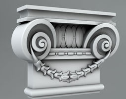 Pilaster Capitals 3D model architecture