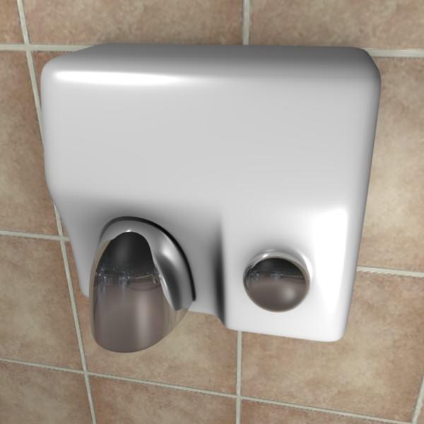 Hand Dryer 3d Model Obj Fbx Blend 1 ...