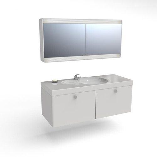 Minimalist Bathroom Vanity: Modern And Minimalistic White Bathroom Sink And Vanity 3D
