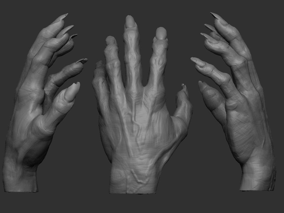 Monster hand 3d model 3d printable stl for Monster 3d model