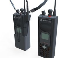 3d model VR / AR ready walkie talkie