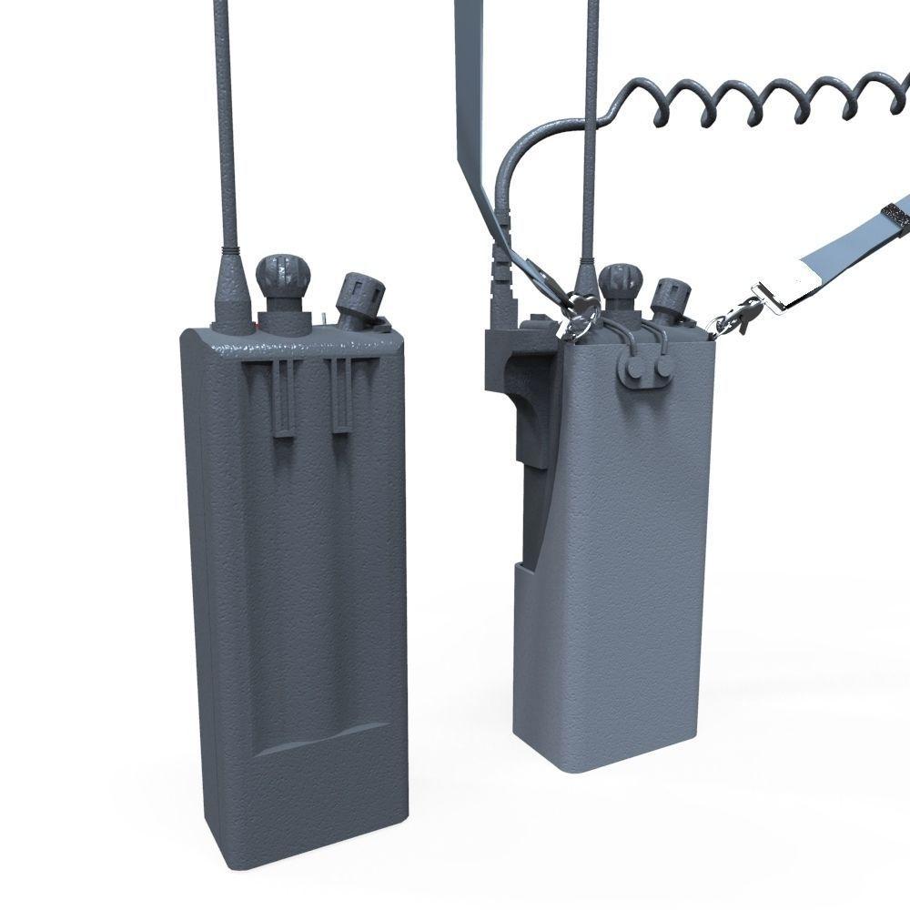 3d model vr ar ready walkie talkie cgtrader