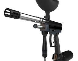 VR / AR ready spyder paintball gun 3d model