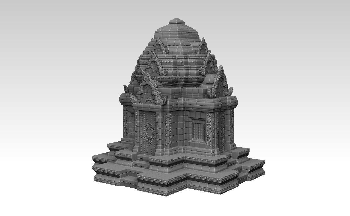 Ruin Ancient Khmer Temple 01