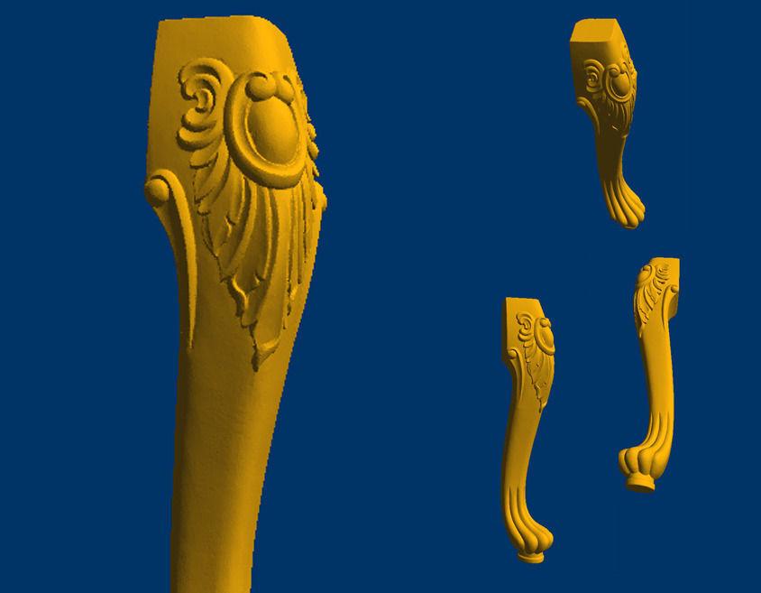 Carved Leg 3d model in STL format