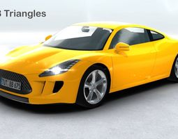 game-ready generic sports car realtime 3d asset