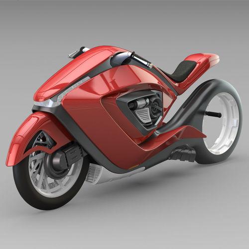 sport bike futuristic concept 3d model max obj mtl 3ds fbx c4d lwo lw lws 1