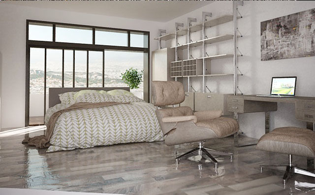 ... Living Room And Bedroom 3d Model Max Tga ...