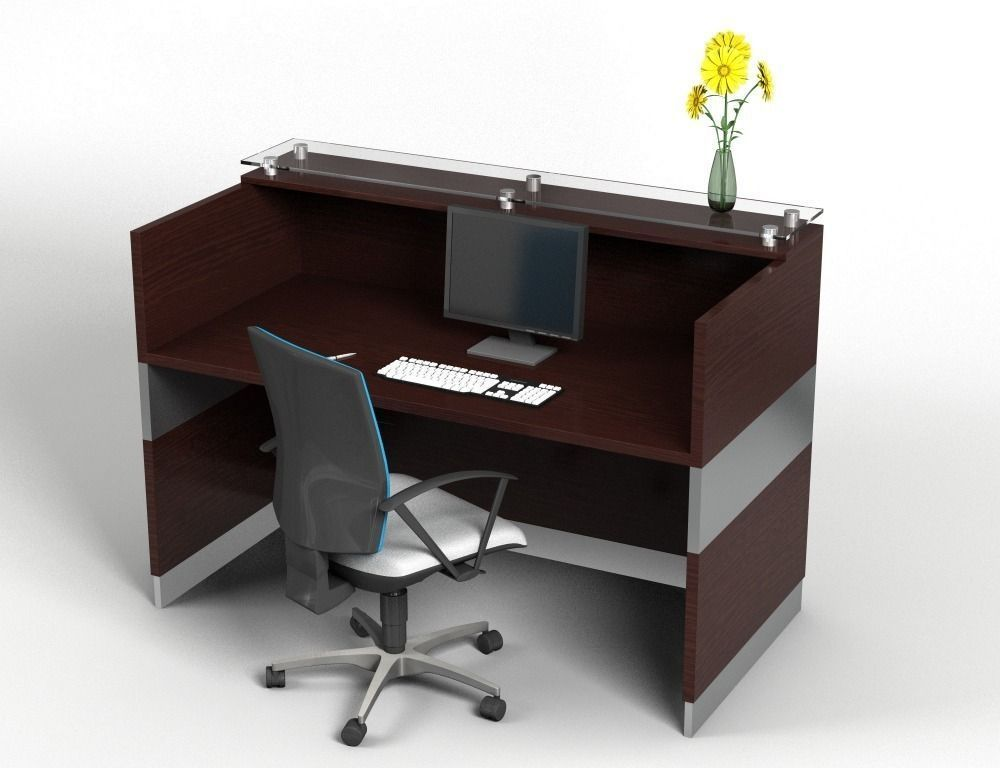 ... Counter Desk I 3d Model Obj 3ds Fbx C4d 2 ...