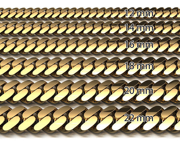 6 BIG SIZE MIAMI CUBAN LINK CHAIN FOR BRACELET OR NECKLACE