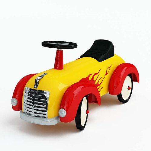toy   ride on car 3d model obj mtl 1