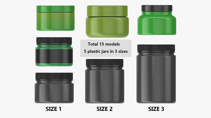 Plastic Jars for Mockup 15 models