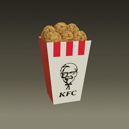 KFC - Kentucky Fried Chicken - medio - 2021 - low poly