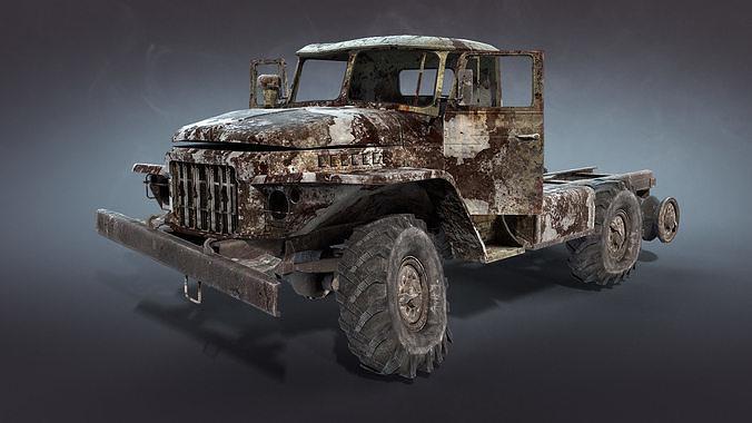 Ural-375 Burnt