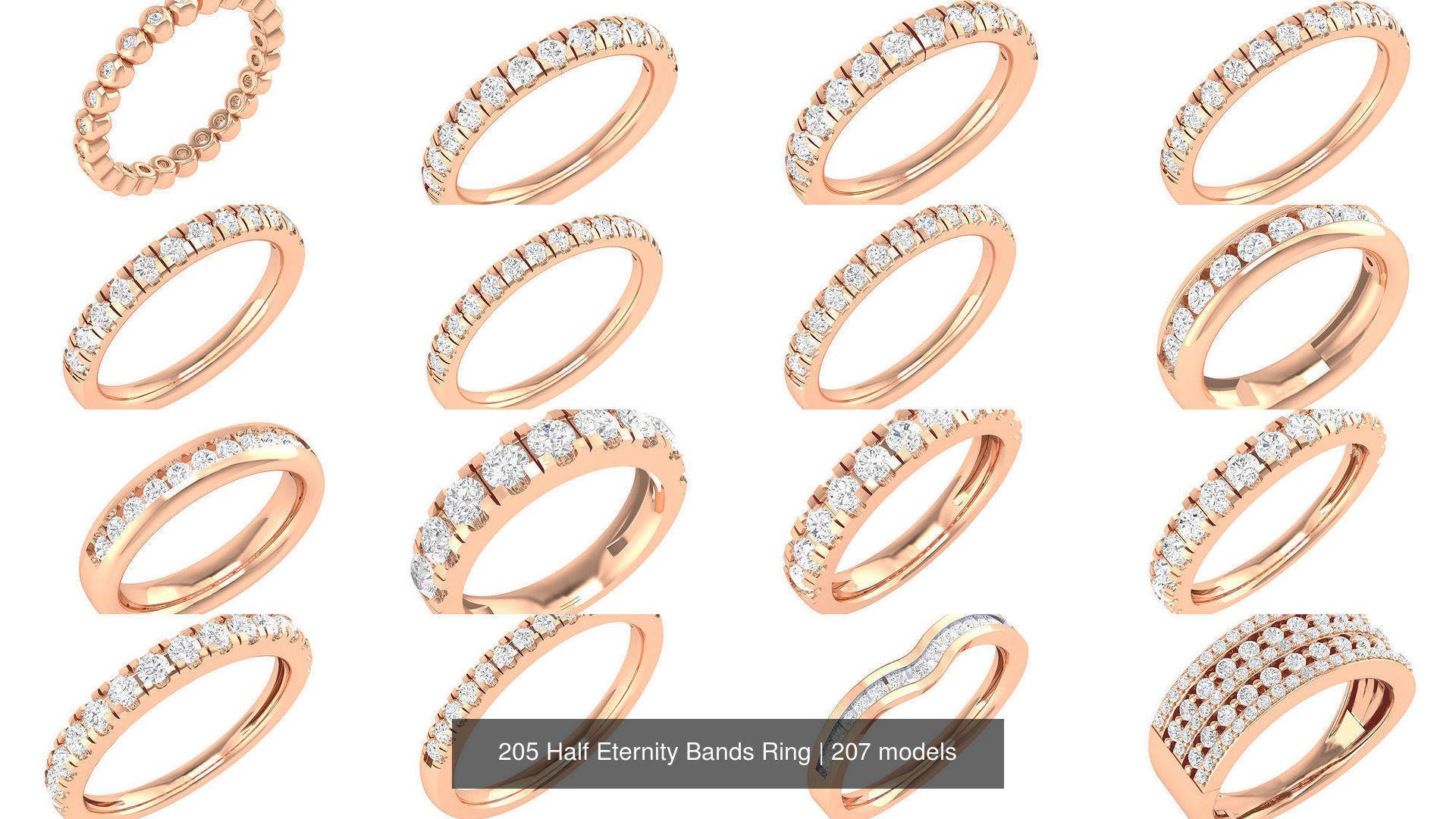 205 Half Eternity Bands Ring