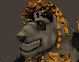 Bamboo Panda Warrior 3D Model