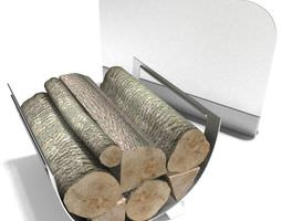 3d modern fireplace accessories with wood
