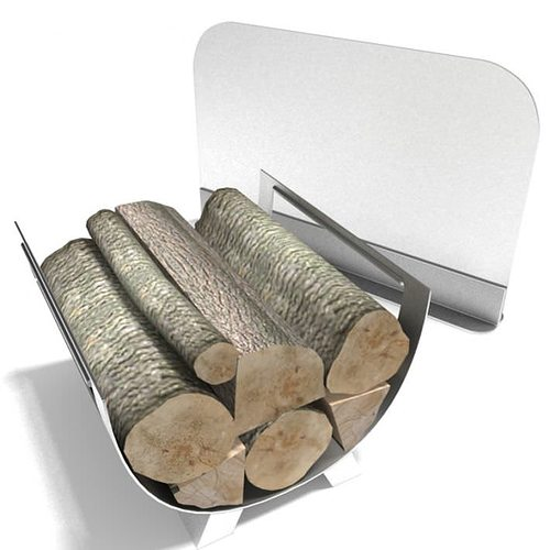 3D model Modern Fireplace Accessories With Wood
