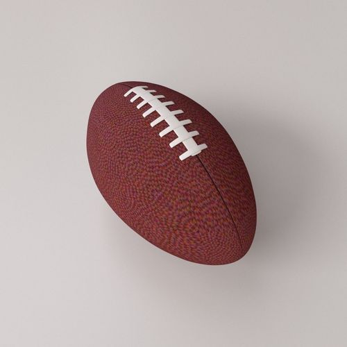 american football 3d model obj mtl 3ds fbx blend dae 1