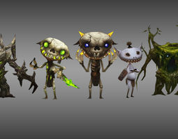 3D asset Monster Character game Collection 1