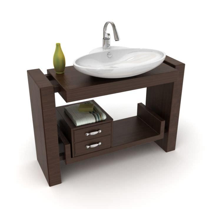 Furniture bathroom sink 3d model for 3d bathroom models
