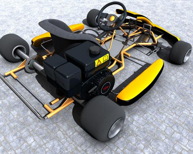 racing go kart gokart 3d model - Race Kart Frame