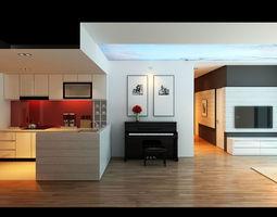 3D Apartment Livingroom