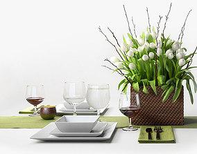Tulip Centerpiece set 3D model