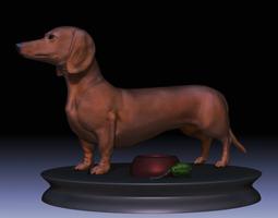 VR / AR ready 3d asset detailed dachshund dog